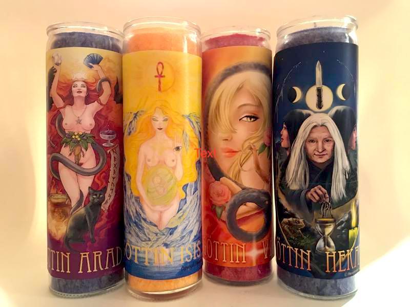 Göttinnen-Glaskerzen