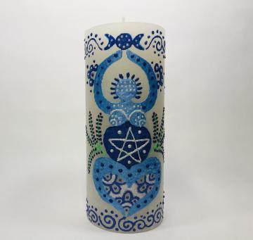 Blaue Göttin mit Pentagramm