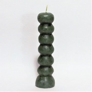 7-Knopf Kerze grün