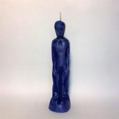 Kerze Mann blau