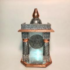 Geistertempel silber-bronze mit Pentagramm