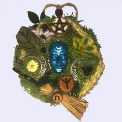 Keltischer Hausschutz rund mit Pentagramm
