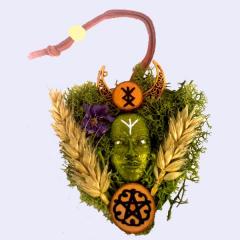 Keltischer Hausschutz mit Rune und Pentagramm