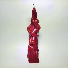 Pärchenkerze Liebende rot