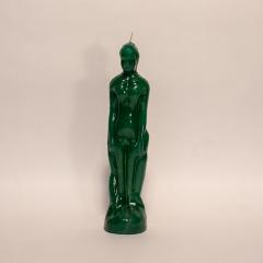 Kerze Mann grün